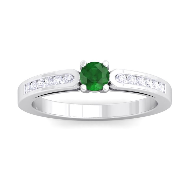Green-Emerald-FG-SI-Fulgent-Gemstone-Diamonds-Engagement-Ring-14K-White-Gold