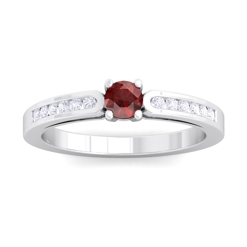 Red-Garnet-FG-SI-Fulgent-Gemstone-Diamonds-Engagement-Ring-18K-White-Gold