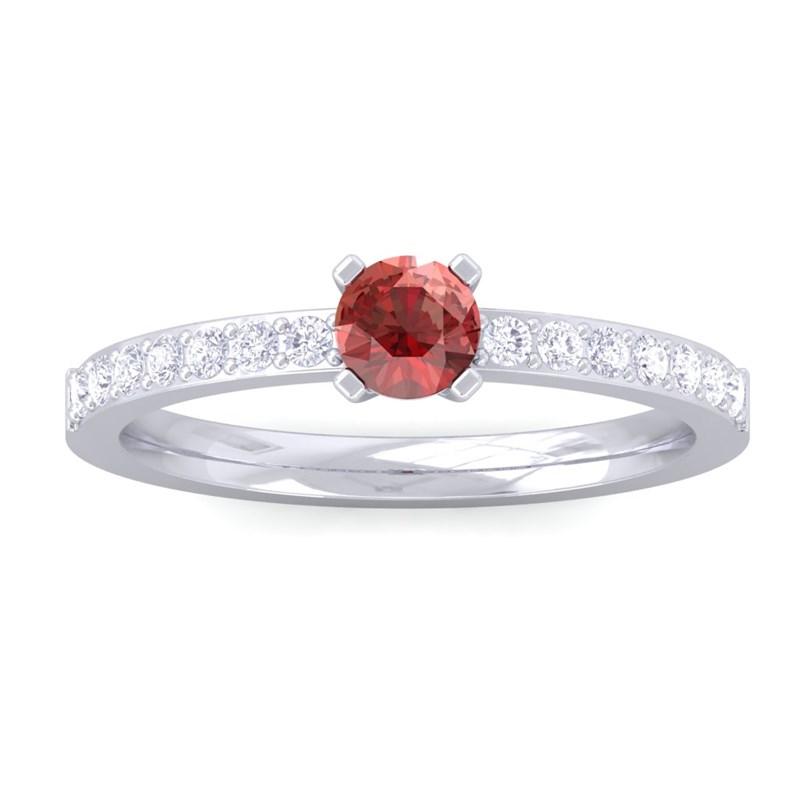 Red-Garnet-Diamonds-Solitaire-Gemstone-Ring-Women-Dailywear-18K-White-Gold