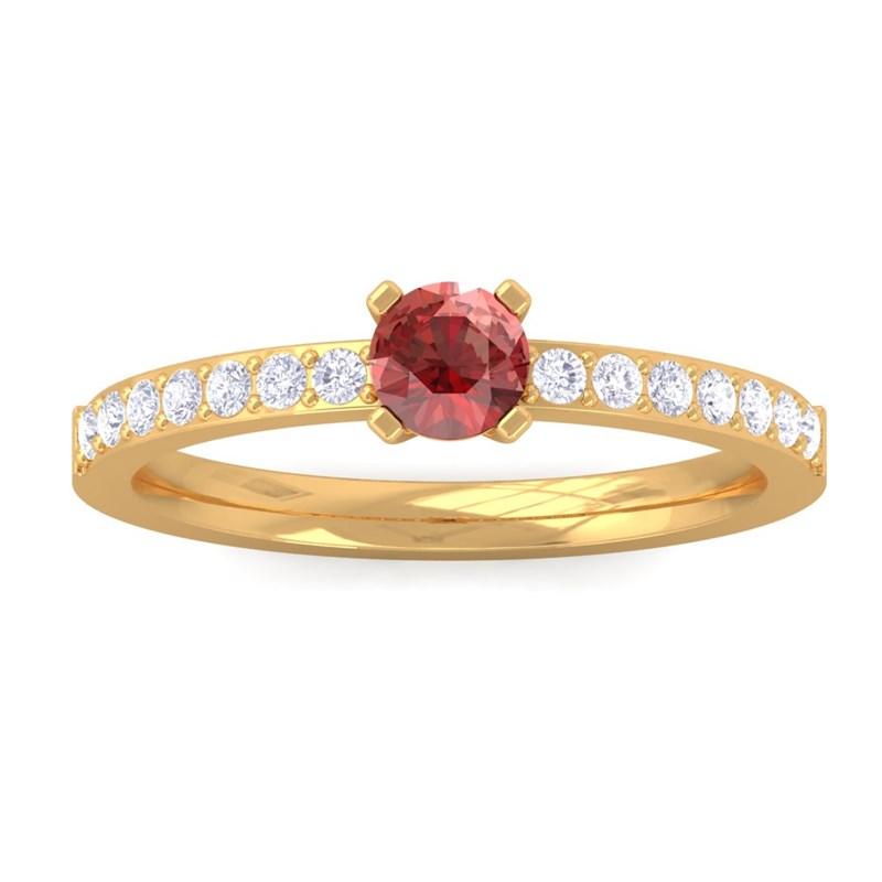 Red-Garnet-FG-SI-Diamonds-Gemstone-Ring-Women-Dailywear-10K-Yellow-Gold