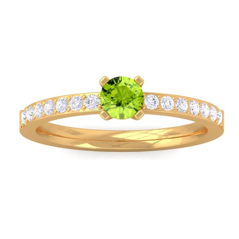 Green-Peridot-FG-SI-Diamonds-Gemstone-Ring-Women-Dailywear-10K-Yellow-Gold