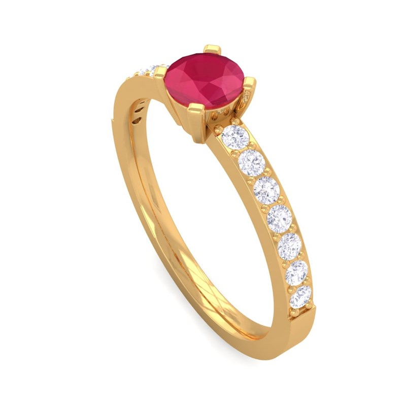 Red-Ruby-GH-VS-Diamonds-Gemstone-Ring-Women-Dailywear-Yellow-Gold