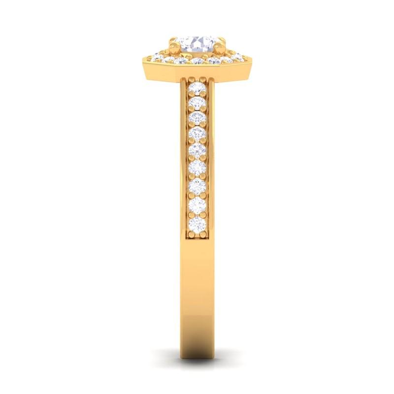0-46ct-FG-SI-Halo-Diamond-SideStone-Engagement-Ring-Women-Solid-18K-Gold