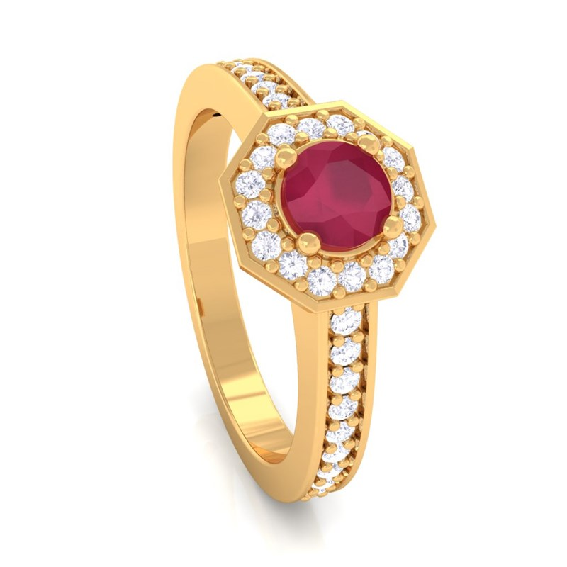Red-Ruby-IJ-SI-Gemstone-Diamond-Engagement-Ring-Women-Yellow-Gold