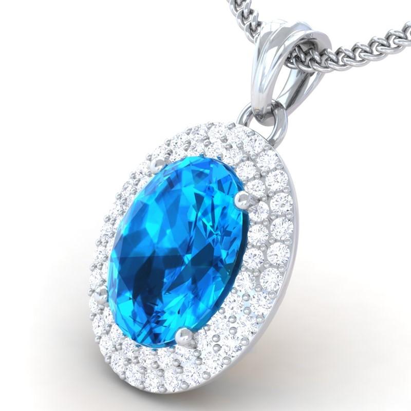 Blue-Topaz-FG-SI-Fine-Diamonds-Oval-Gemstone-Pendant-Women-14K-Gold