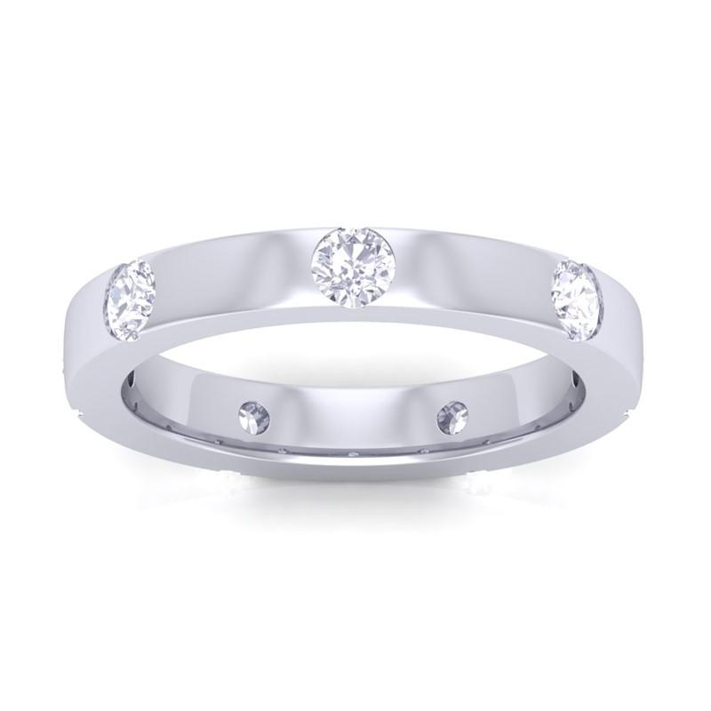 0-70ct-Real-Diamond-Elegant-Wedding-Anniversary-Band-Women-Solid-14K-White-Gold