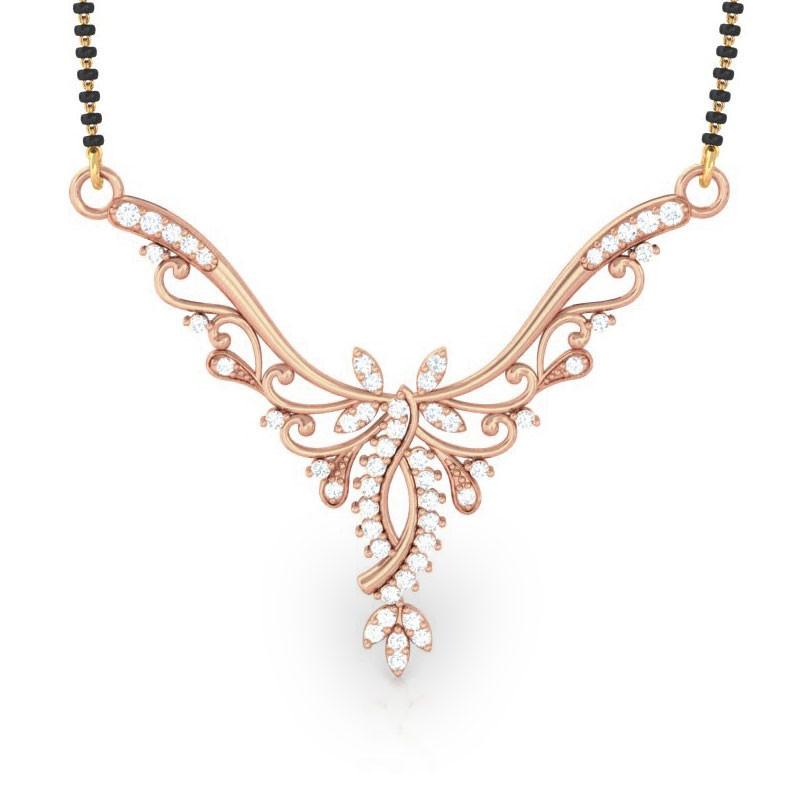 Beautiful diamond mangalsutras tanmaniyas online india dailywear swarupa mangalsutras kreeli jewellery aloadofball Images