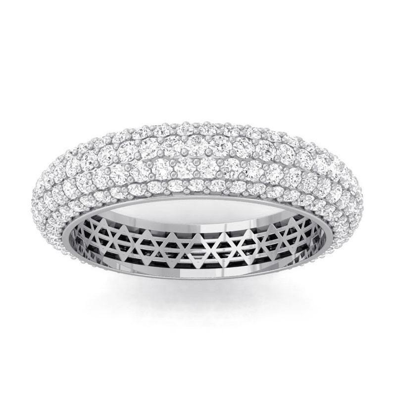 1-92ct-FG-SI-Fine-Diamonds-Womens-Full-Eternity-Wedding-Band-10K-White-Gold
