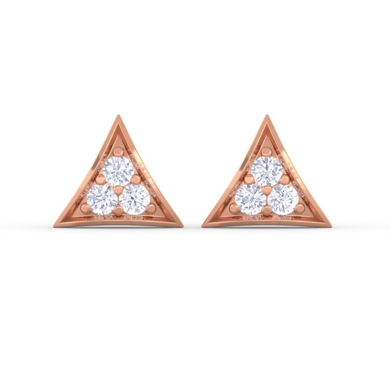 0-11ct-FG-SI-Round-Diamonds-Fashion-Womens-Stud-Earrings-10K-Solid-Gold