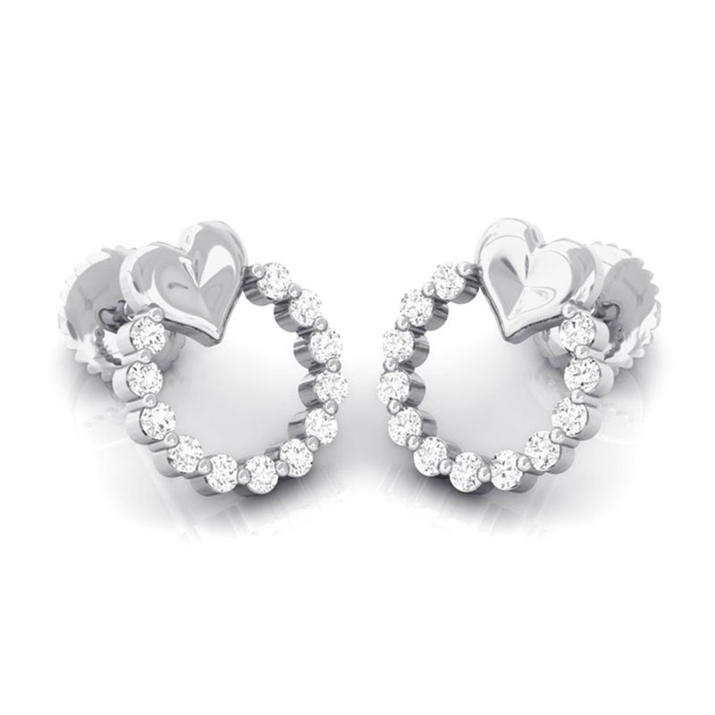 0-20ct-IJ-SI-Diamonds-Sparkling-Heart-shape-Stud-Earrings-Women-14K-White-Gold