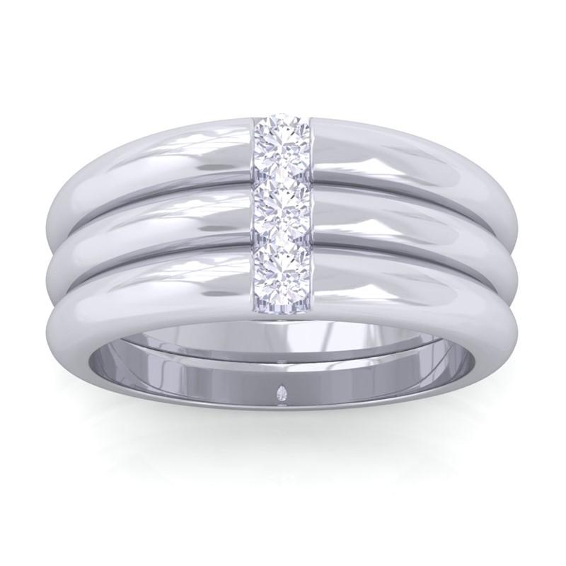 0-24ct-FG-SI-Round-Diamond-Classic-Three-Stone-Wedding-Band-10K-White-Gold