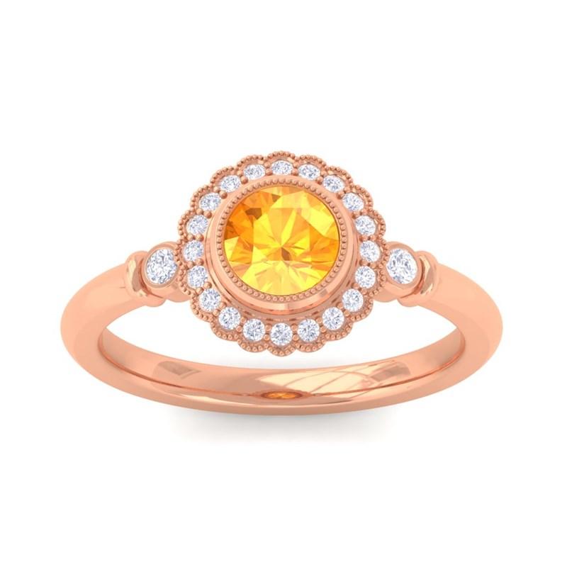 Orange-Citrine-FG-SI-Diamonds-Gemstone-Engagement-Ring-Women-10K-Rose-Gold