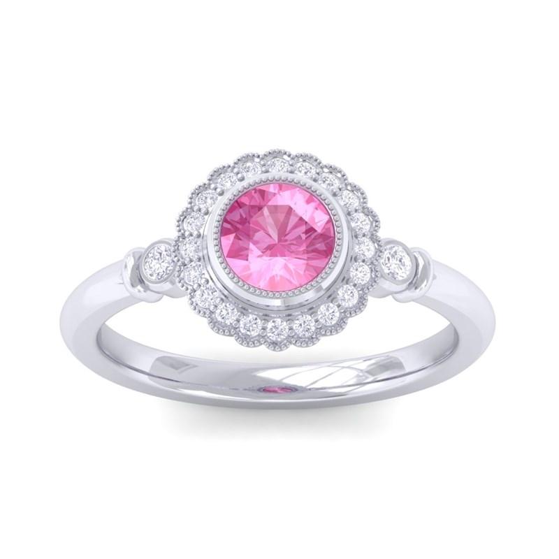 Pink-Sapphire-FG-SI-Diamonds-Gemstone-Engagement-Ring-Women-10K-White-Gold