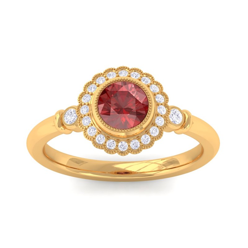 Red-Garnet-FG-SI-Diamonds-Gemstone-Engagement-Ring-Women-14K-Gold