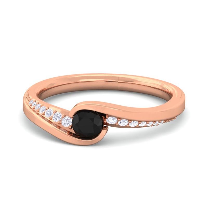 Black-Onyx-FG-SI-Round-Gemstone-Diamonds-Dailywear-Ring-18K-Gold