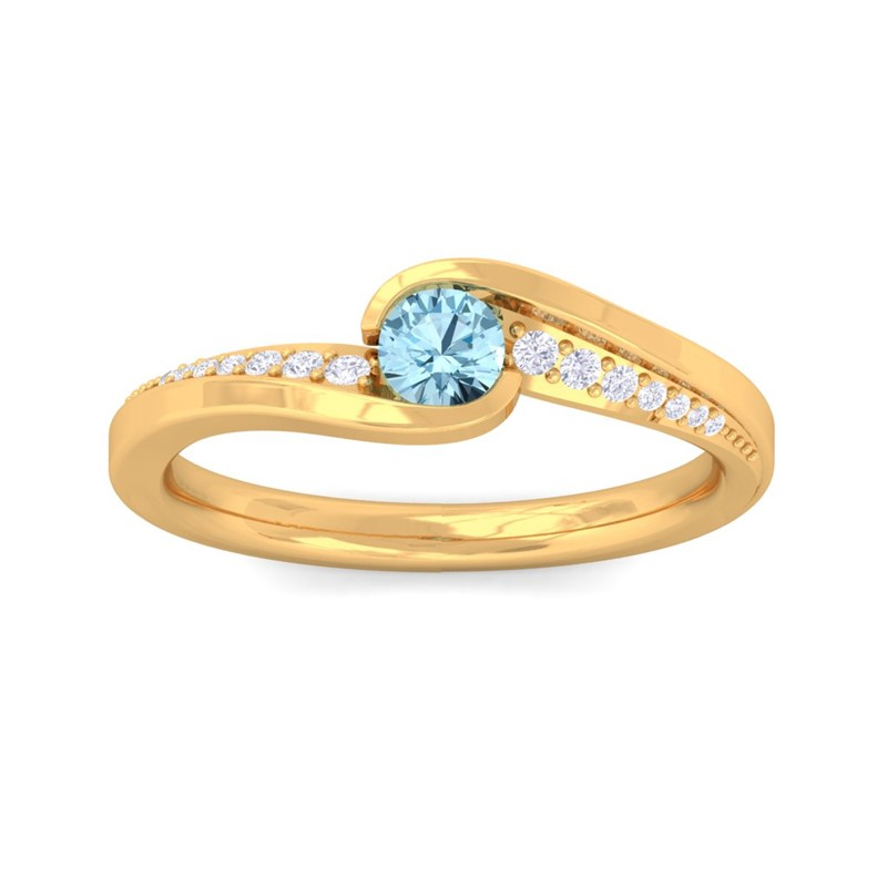 Blue-Topaz-FG-SI-Round-Gemstone-Diamonds-Dailywear-Ring-18K-Gold