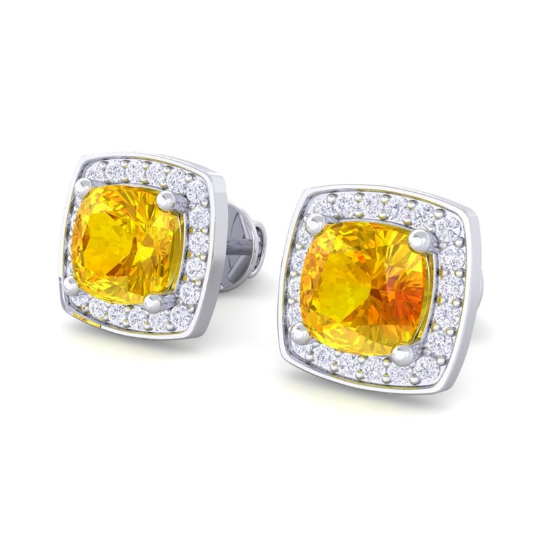 100% Real Yellow Sapphire Cushion Gemstone Diamond Stud. Gold Watches. Jewelry Auctions. Gel Bracelet. Three Stone Diamond. Eco Friendly Watches. Pear Shaped Pearls. Micro Pave Bands. White Gold Diamond Anniversary Band