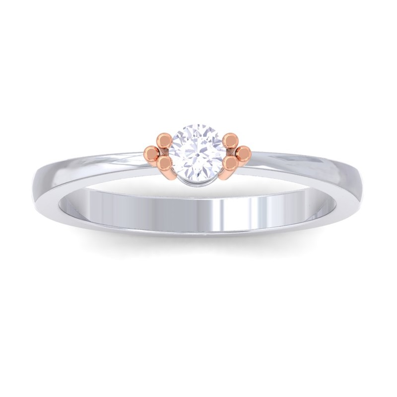 0-19ct-FG-SI-Round-Diamond-Delicate-Fashion-Classic-Women-Ring-10K-White-Gold