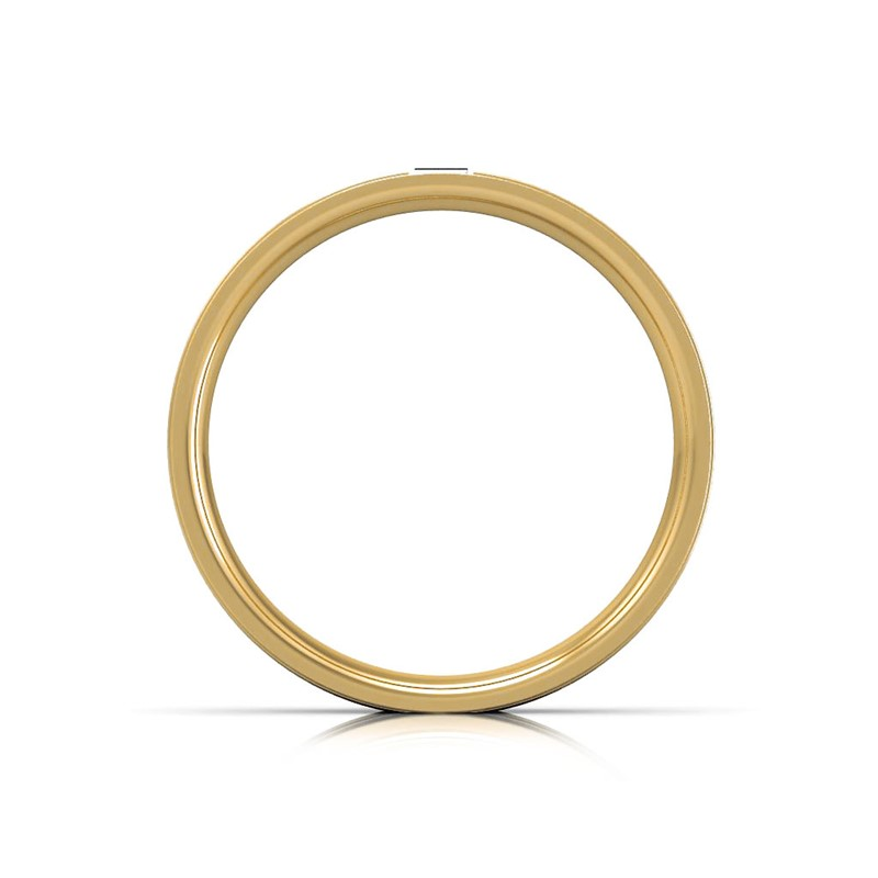 0-06ct-FG-SI-Baguette-Fine-Diamond-Groove-Mens-Engagement-Ring-10K-Solid-Gold