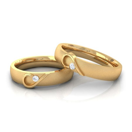 AIKO- Couple Bands In 10K gold