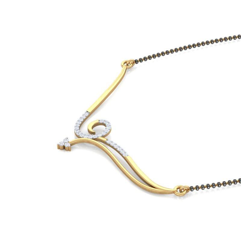 Charvi Diamond Mangalsutra In 18k Gold