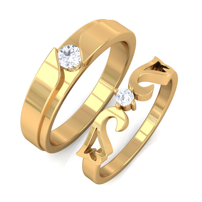Esther Engagement Rings For Couple In 10k Gold