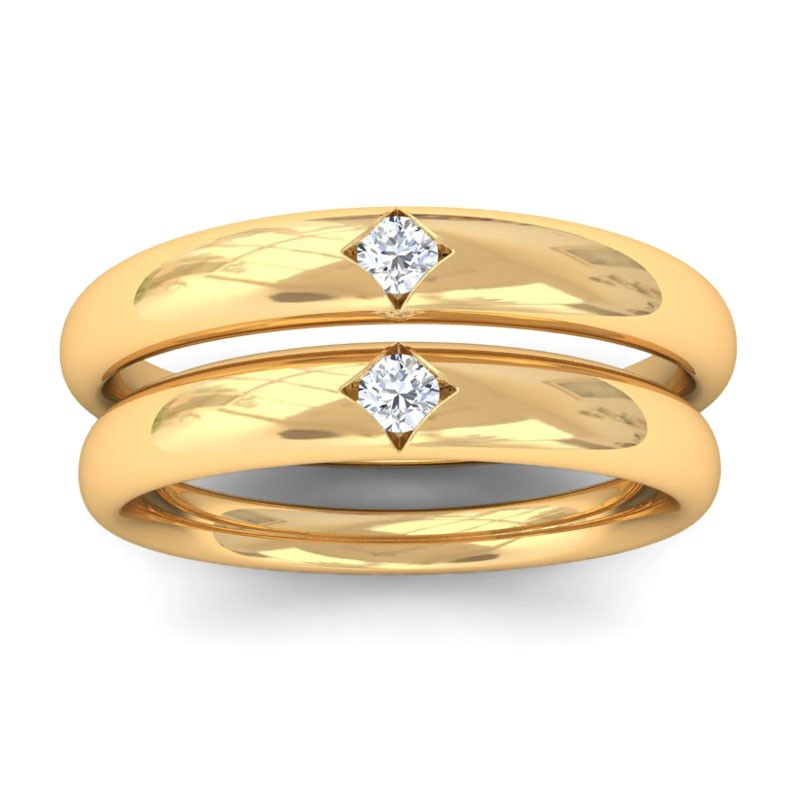 Engagement Rings For Couples: EVIANNA- Engagement Rings For Couple In 10K Gold